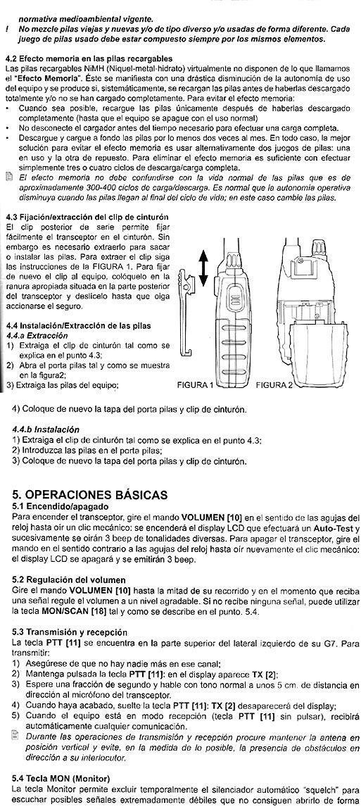 instrucciones midland G7E XT