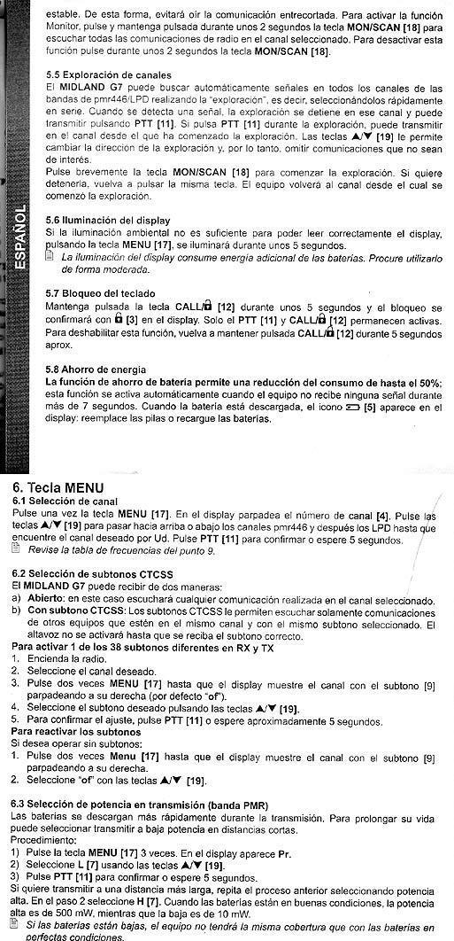G7E midland XT manual
