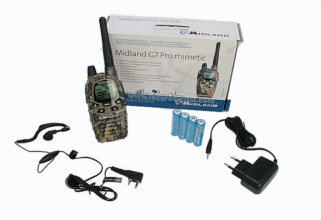 El MIDLAND G7 X-TRATALK XT es extremadamente práctico y opera de pmr446.