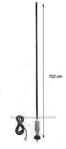 GAMMA 2R SIRTEL CB Antenna 27 Mhz. made of fiber and 92 cms spring.