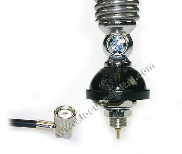 GAMMA 2R SIRTEL Antena CB 27 Mhz. fabricada en fibra y con muelle 92 cms.