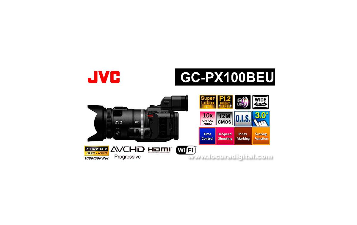 JVC-GC-PX100BEU VIDEO CAMARA ESPECIAL PARA DEPORTES Alta calidad de imagen 1920 X 1080/50P a 36Mbps