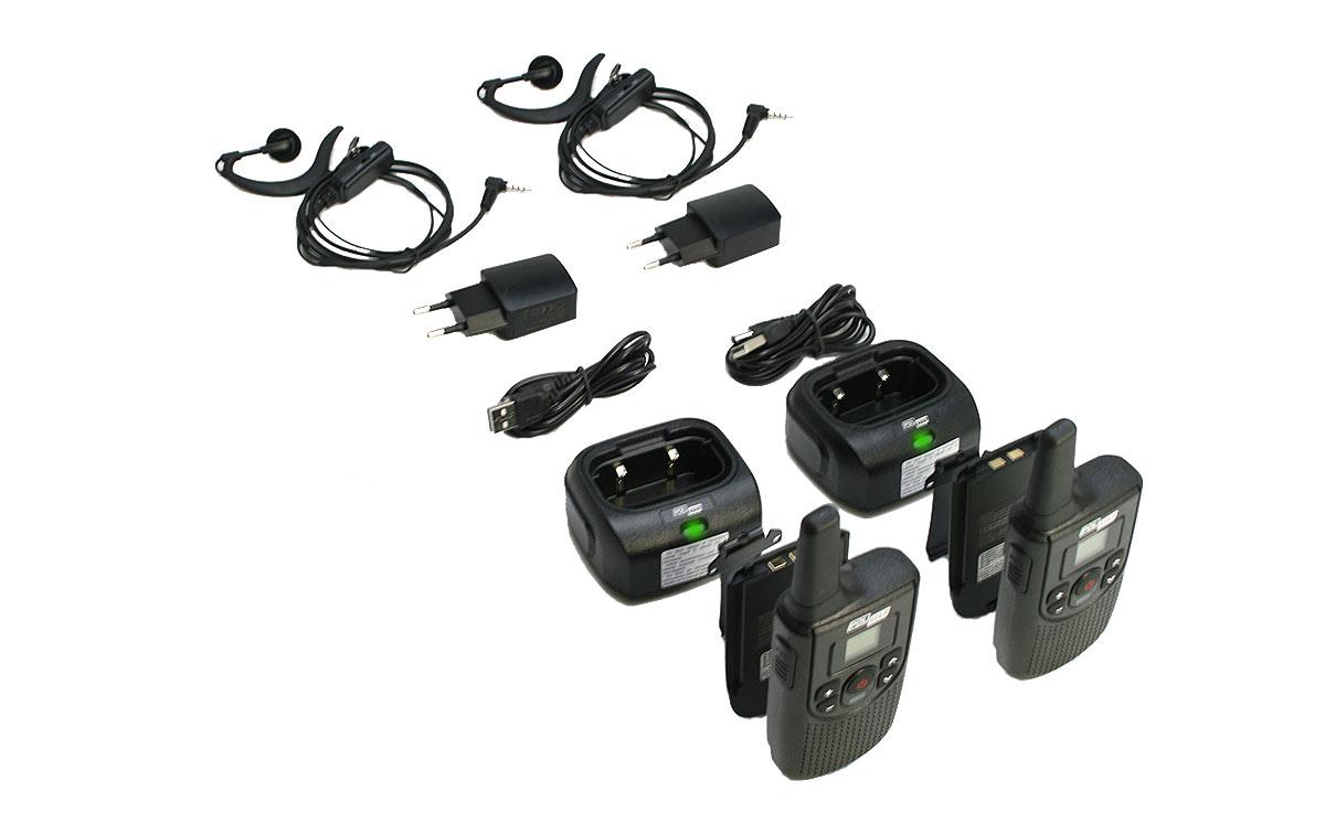 polmar gemini pack 2 walkie talkies pmr-446 uso libre 16 canales