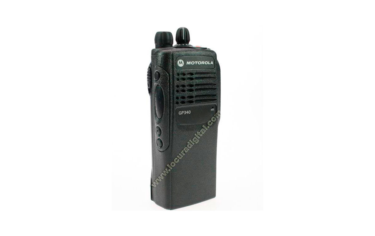 Vista frontal Motorola GP340