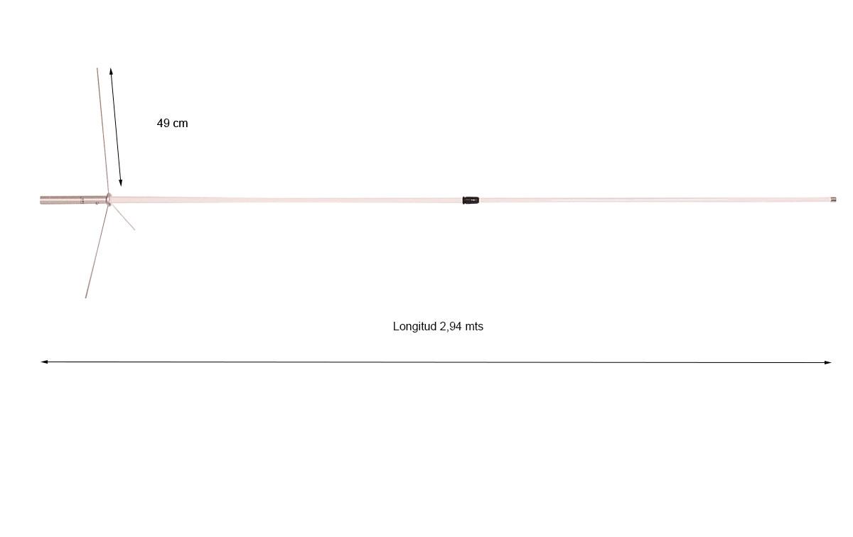 Comet GP-98N Antena tribanda de base VHF144-UHF430 /1200 Mhz