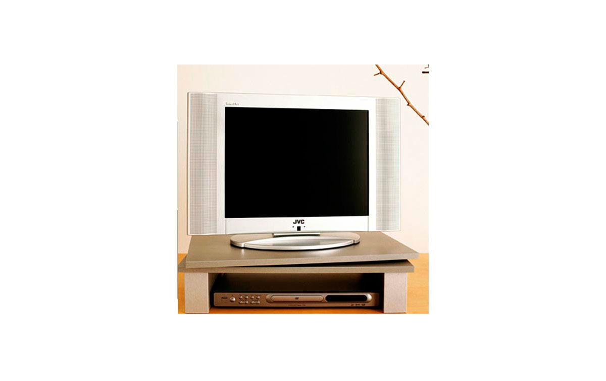 GV1SILVER Soporte pantalla TV + VIDEO giratorio 60 cms x 38 cms. Color PLATA