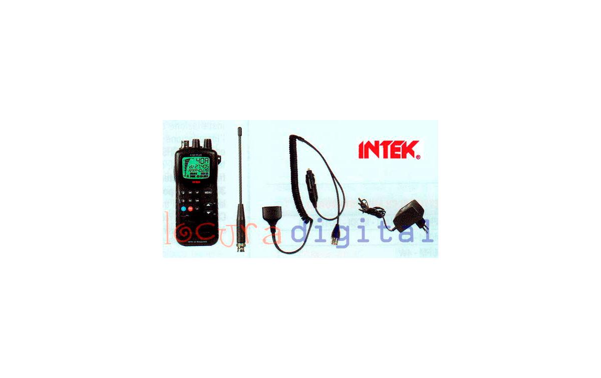 INTEK H520 PLUS WALKIES TALKIE CB 27  MULTIESTANDAR  + CARGADOR + ACCESORIOS  AM-FM 4 WATIOS