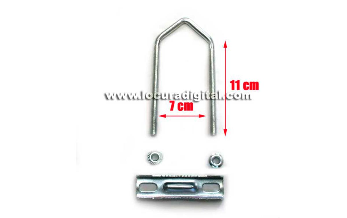 mirmidon hard-1660 soporte horizontal galvanizado doble, medidas: 1660 mm x 350 mm, diámetro: 35 mm
