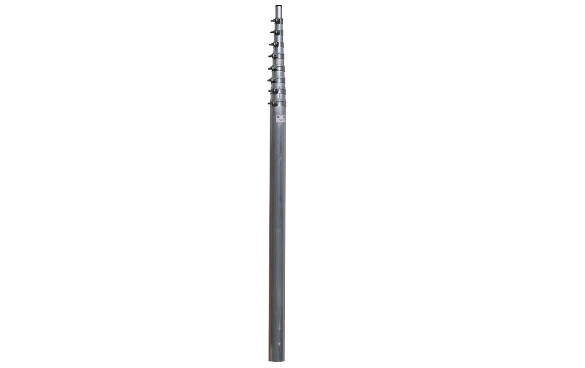 HARD6M5T Mástil Telescopico Aluminio hasta 6 metros, 5 tramos