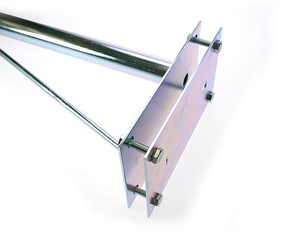 MIRMIDON HARD-8035 Soporte especialmente diseñado para montaje de antenas en torretas. Para la instalación de todo tipo de antenas: parabólicas, radio, televisión, etc.... Este soporte es universal y se puede montar en torretas de cualquier anchura desde 180 mm. en adelante.