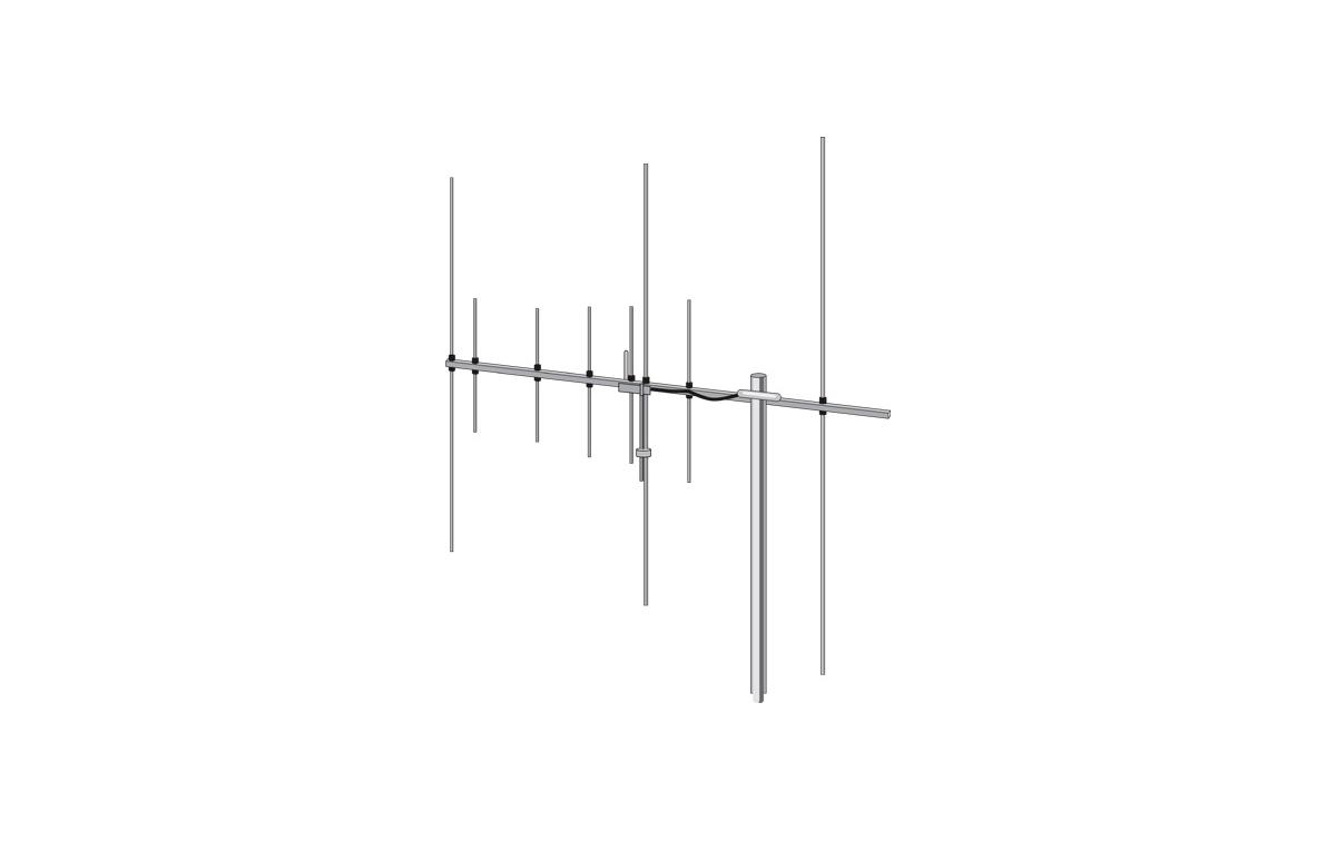 HB-FOX- HOXIN  Antena directiva bibanda tipo YAGI 8 elementos 144 /430 mhz