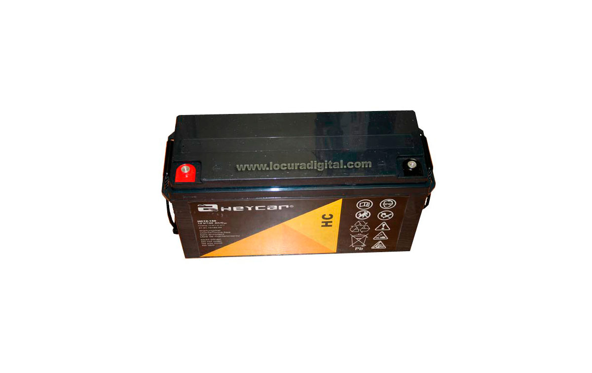 HC12.150 Batería de plomo de 12 voltios, 150 Amp.