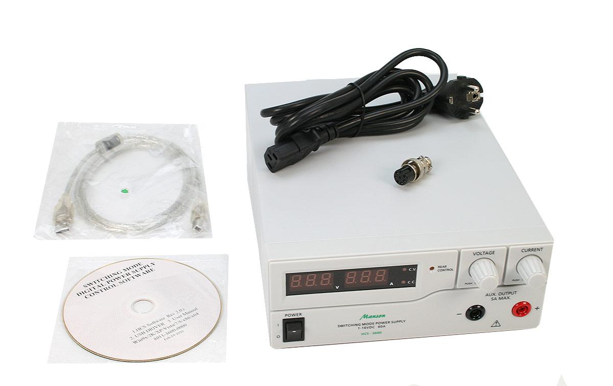 Manson HCS3600 Fuente de Alimentación ideal para laborotorios Digital regulable 1-16 voltios, regulable 0-60 Amperios