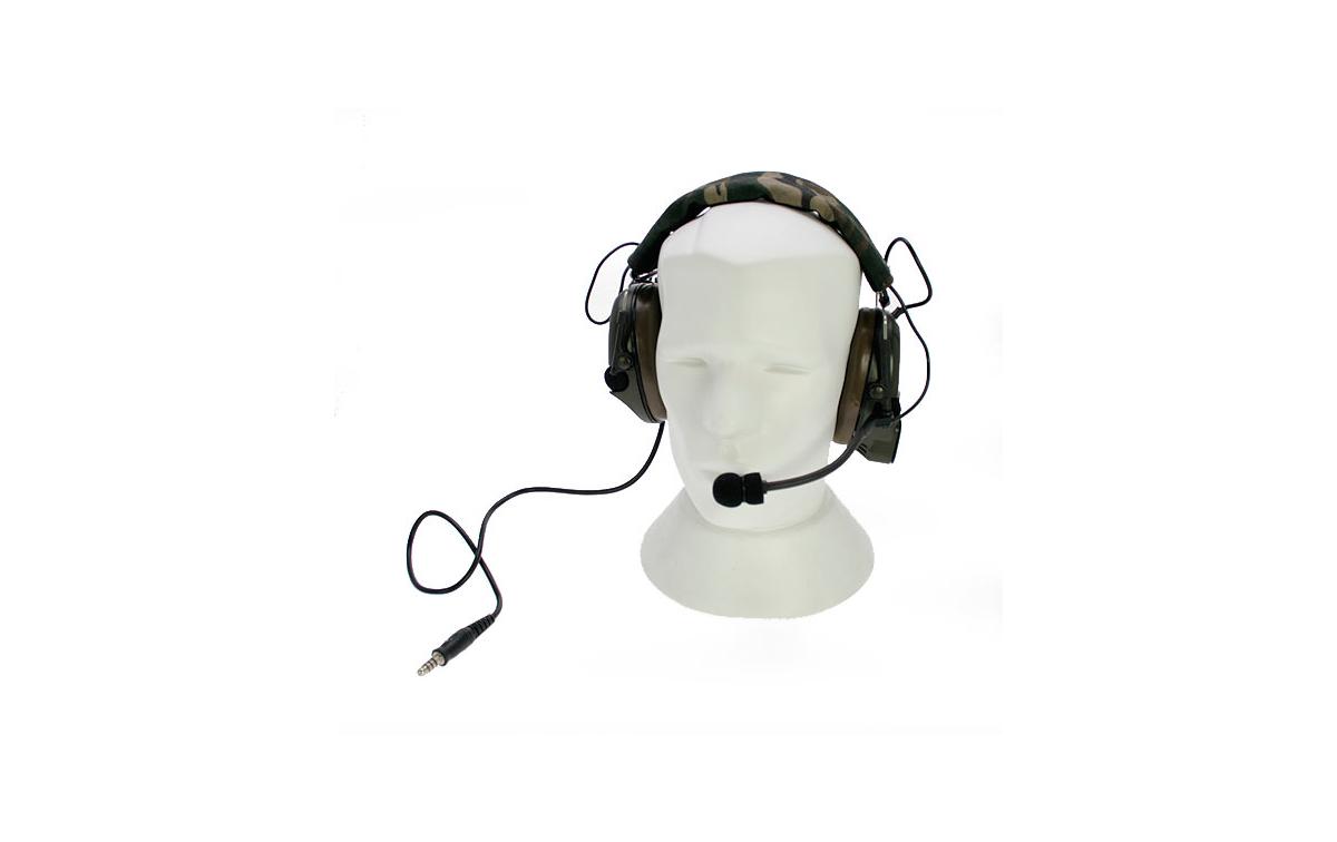 NAUZER HEL 950 Micro Auricular formato grueso especial para AIRSOFT con amplificacion.