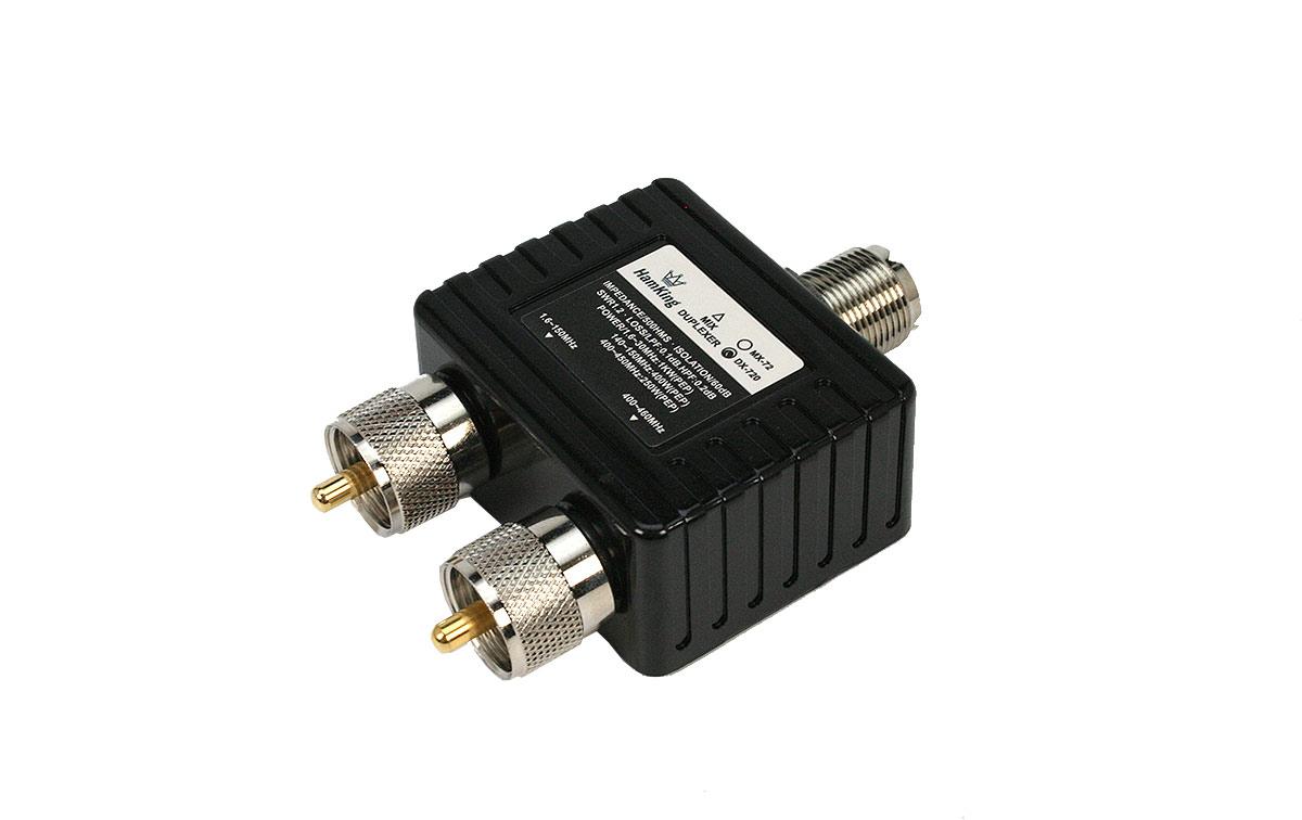 HAMKING HKDX72 Duplexor HF/VHF/UHF1 PL Hembra x 2 PL Macho, frecuencias 1,6-30-140-150-400-460 Mhz