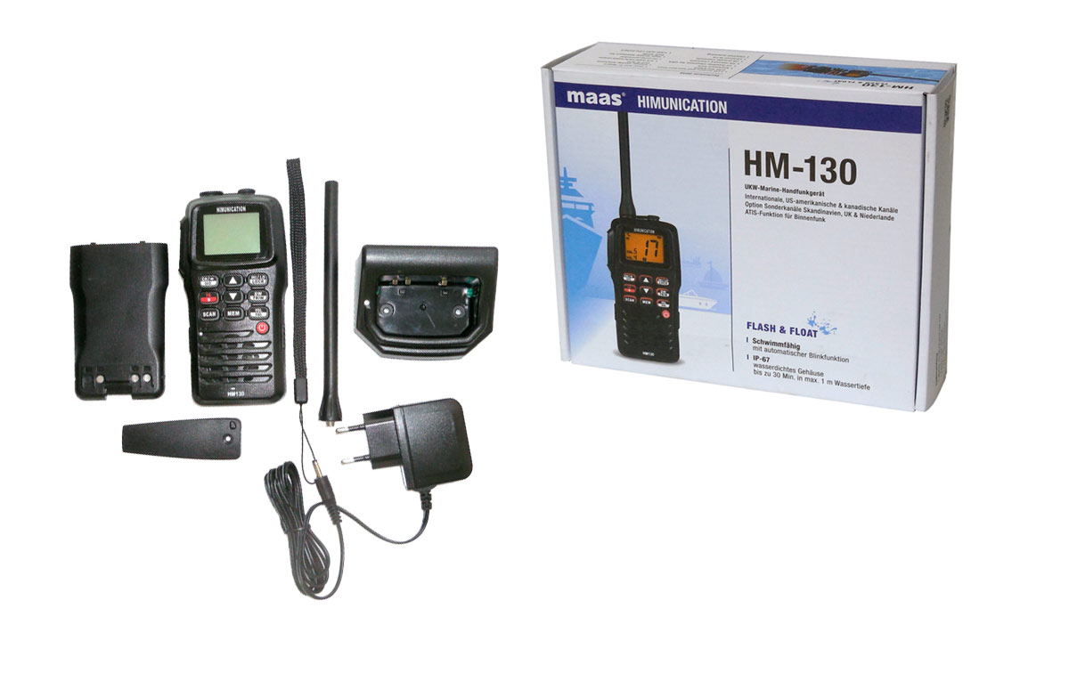 hm130 himunication walkies portatil para vhf marina proteccion al agua ip67