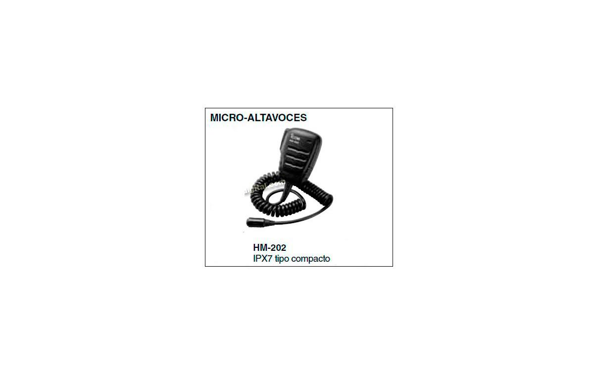 HM202  Micro- altavoz de mano  para IC-M 73
