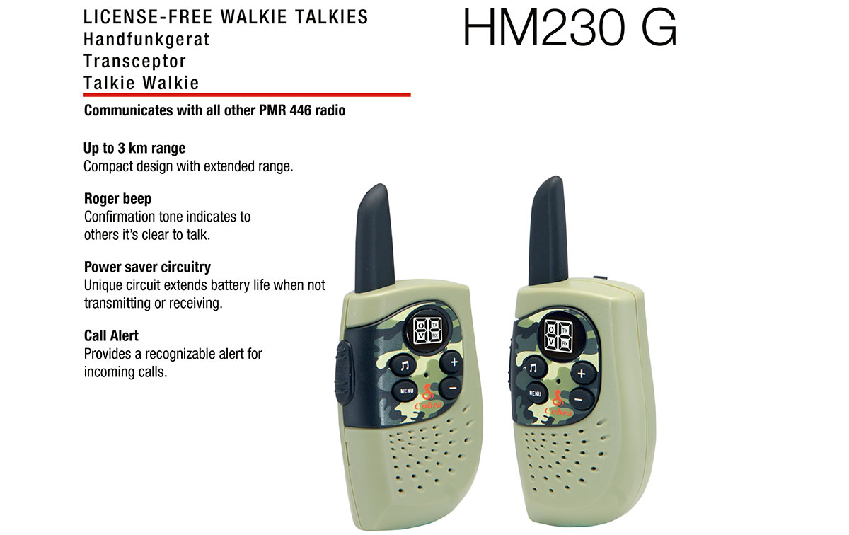COBRA HM-230-GREEN Pareja de walkies PMR