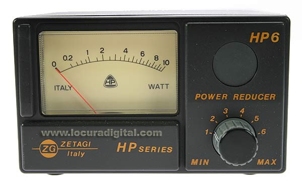 ZETAGI HP-6 Reductor de potencia para equipos CB, (0-30 Mhz) Pot. máxima aplicable 10W AM-FM,