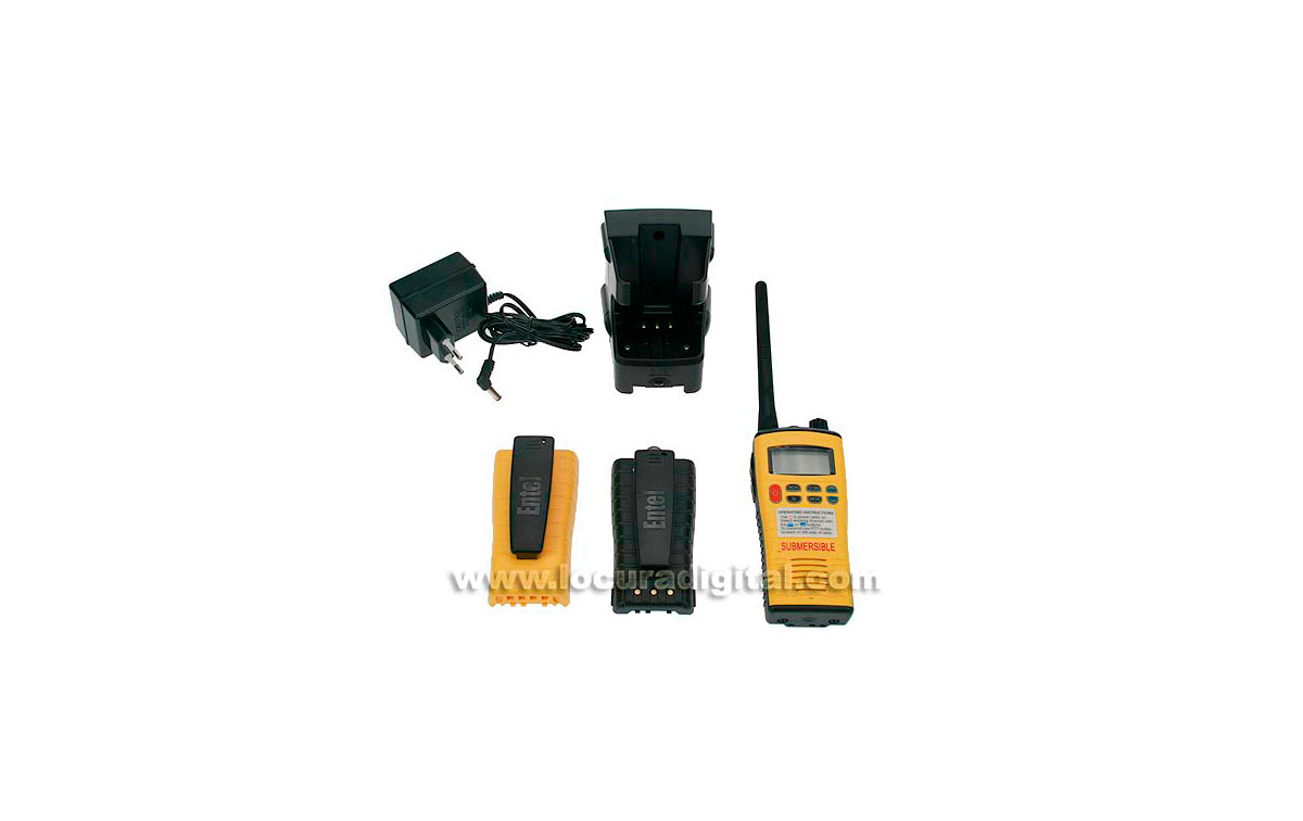 HT649 P2 ENTEL walkie portátil VHF NAUTICO SUMERGIBLE CON GMDSS HOMOLOGADO