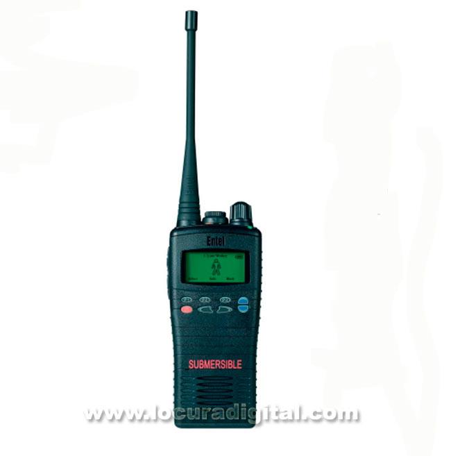 ENTEL HT-715 frecuencia 66-88 Mhz - IP-68 Sumergible, Walkie profesional con display 255 canales