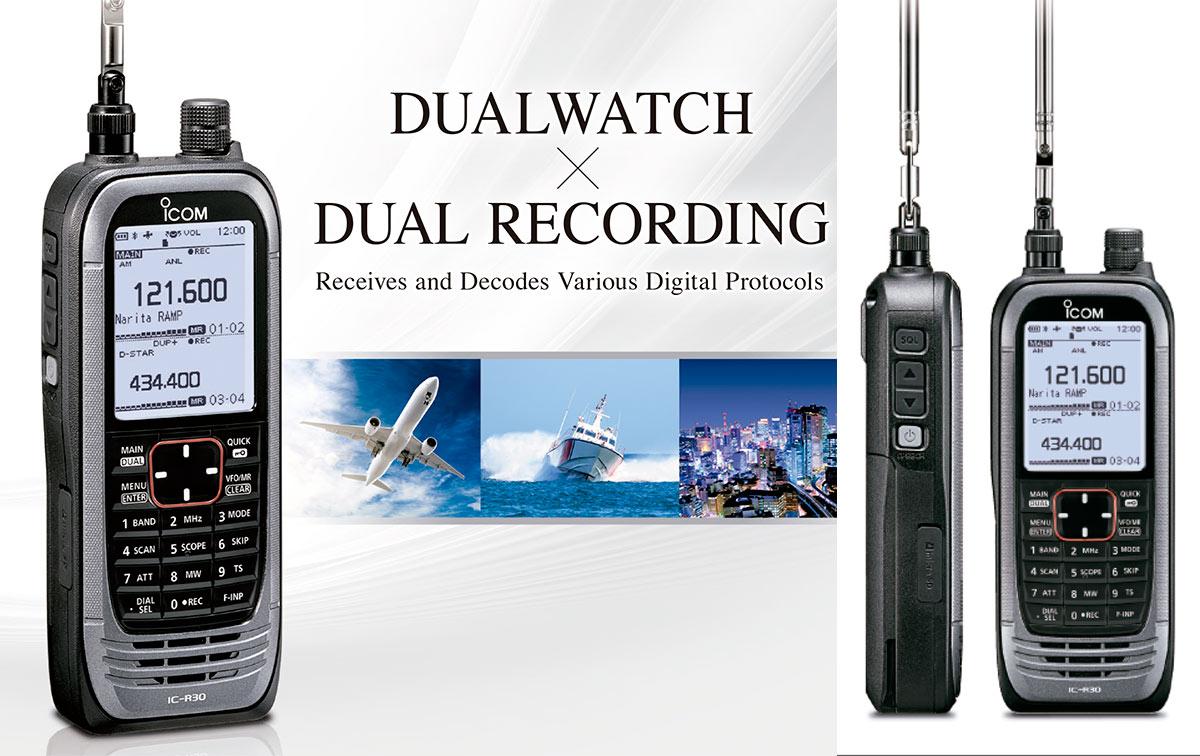 ICOM IC-R30 Scaner Analogico y Digital Frecuencia 0,1 -3304.99 MHz.