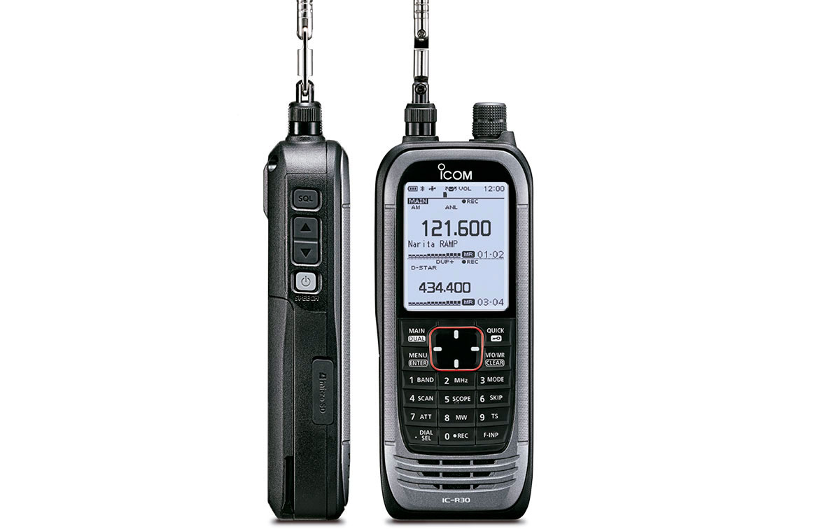 ICOM IC-R30 Scaner Analogico y Digital Frecuencia 0,1 -3304.99 MHz.