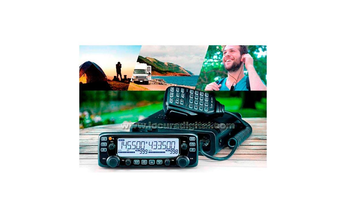 ICOM IC-2730E Emisora bibanda VHF-UHF, banda cruzada + Soporte MBF-4 +Soporte contraladora MBA-4