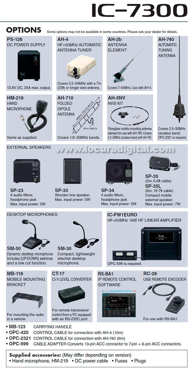 icom ic-7300 transceptor base hf / 50 / 70 mhz.