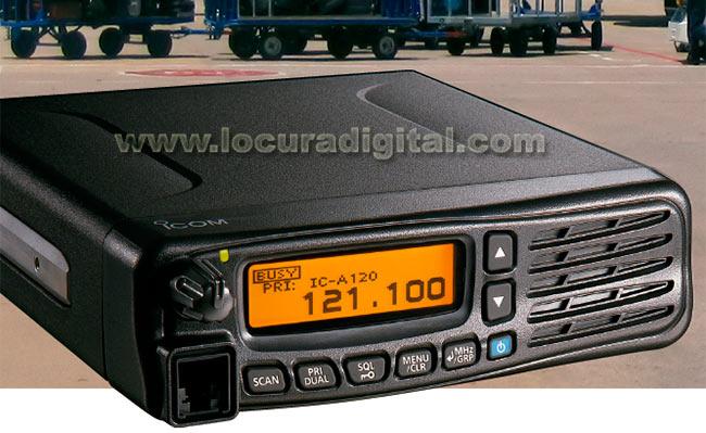 icom ic-a120 emisora banda aerea, instalación en vehículo ó base altavoz frontal