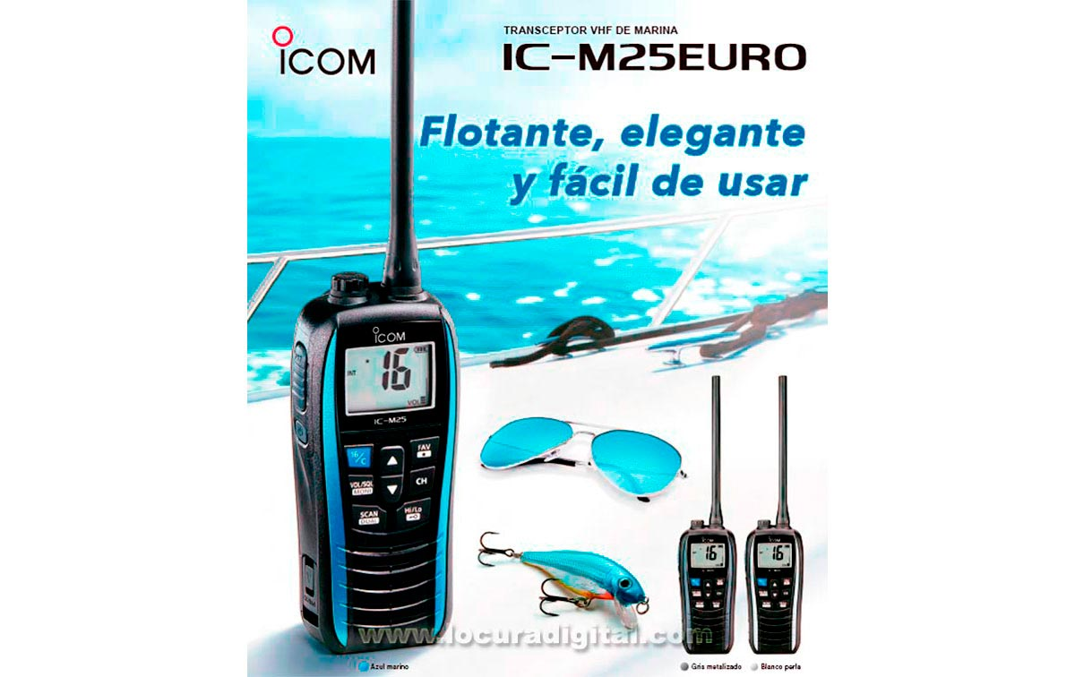 ICM25-BLANCO  portátil VHF banda marina  IPX7