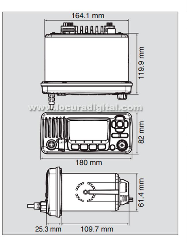 ICOM IC-M330GE VHF Marine Fixe