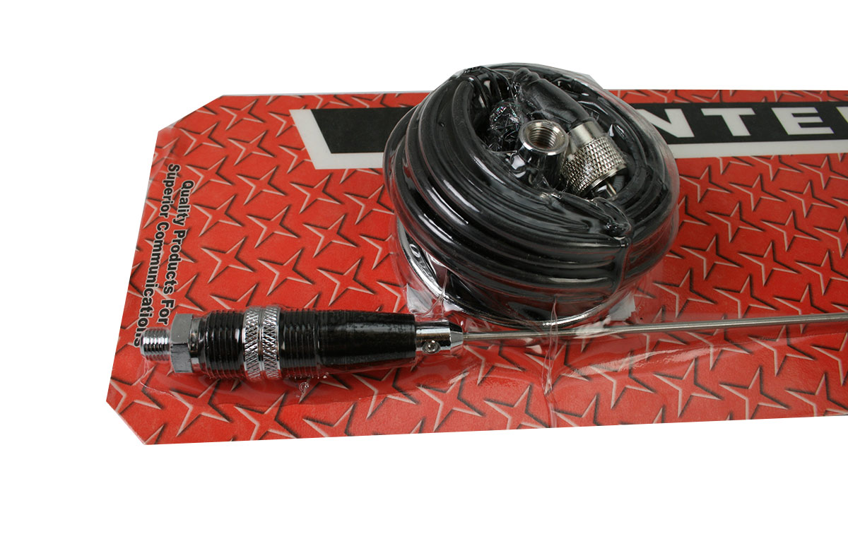 PROCOMM JBC-112-2400 Antena vehiculo base iman 8 cm CB27 Longitud 60 cm