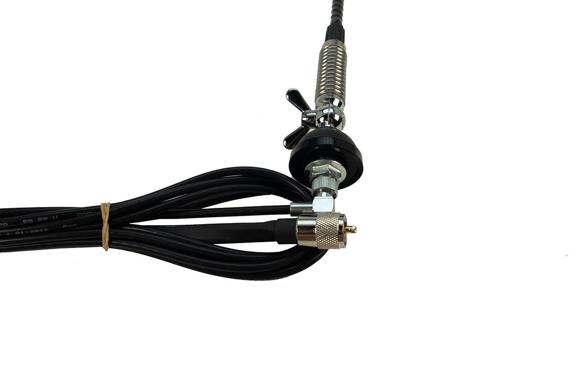 kpot3 kpo antena cb 27 mhz movil sin plano tierra. k-po-t3 es una antena sin conexión a tierra. esto significa que la antena no necesita una masa para funcionar correctamente. por lo tanto, la antena se puede colocar en techos de plástico, fibra . por lo tanto, esta antena es ideal para campistas, tractores y embarcaciones. la antena tiene una conexión dv .