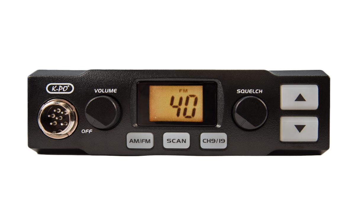 KPO K-500 Emisora CB 40 canales AM/FM . La nueva K-PO K-500 dispone de los elementos imprescindibles para una buena comunicación: unos prácticos controles del volumen y del silenciador que ayudan a obtener una recepción óptima.