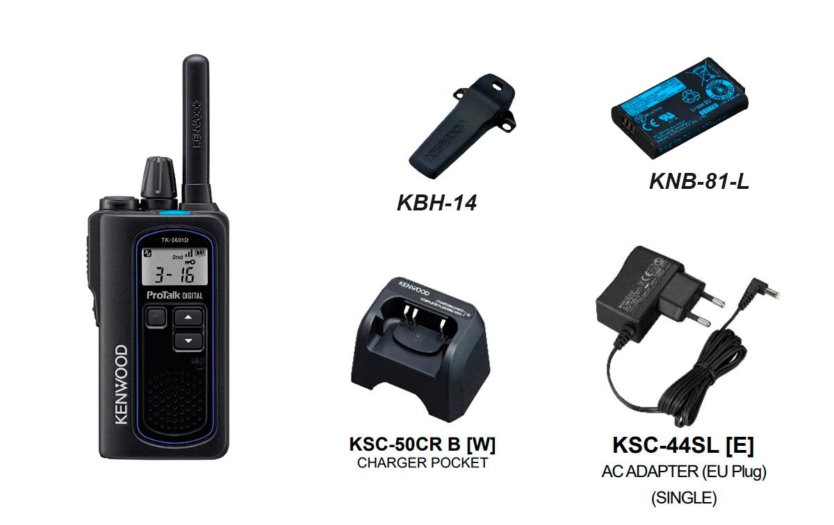 Walkie Talkie KENWOOD TK-3601D de Uso Libre PMR-446 Totalmente compatible con cualquier walkie de uso libre.