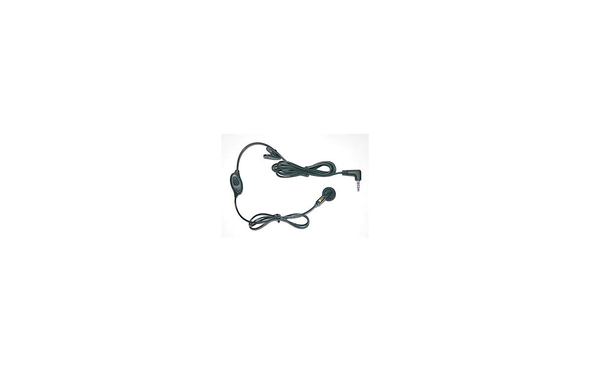 PIN17Y. Micro- Auricular tipo boton PTT cable liso para walkies yaesu.