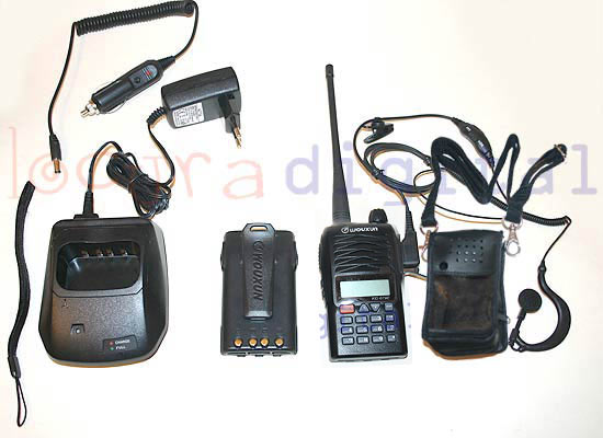 WOUXUN KG679E 8S VHF 144 MHz HANDHELD WITH SCRAMBLER, 128 CHANNELS AND MEMORY. 5 WATTS Power