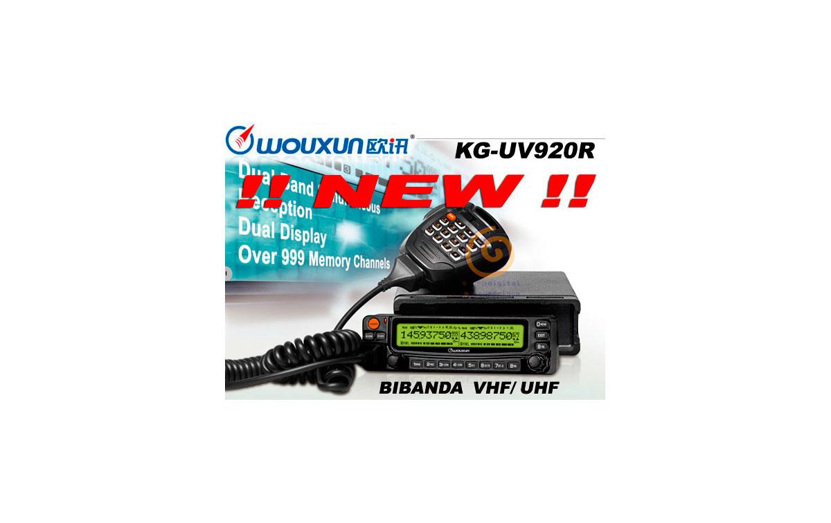 WOUXUN KG-UV920R EMISORA BIBANDA VHF/ UHF 144/430 MHZ - PROXIMAMENTE!!