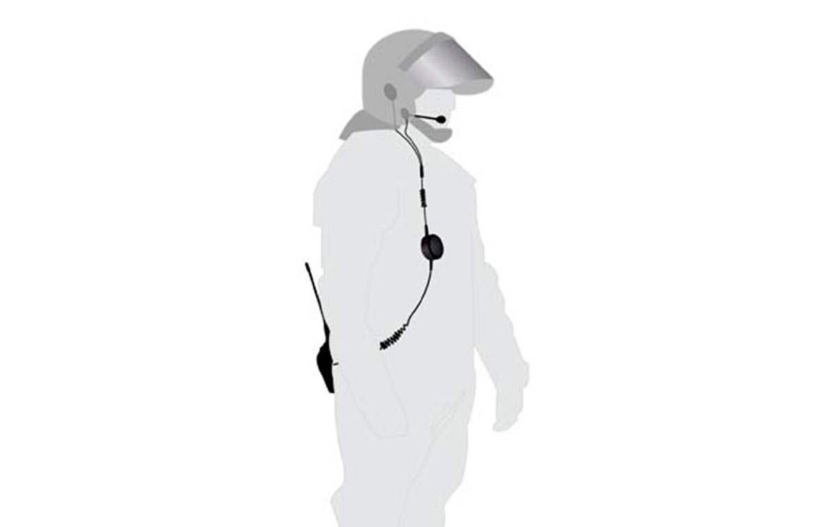 KIM130TPH700 NAUZER micro-altavoz para casco, especial fuerzas seguridad ANTIDISTURBIO