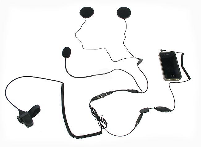 NAUZER KIM55-PHONE. Headset Microphone Kit for mobile phones IPHONE and BLACKBERRY.