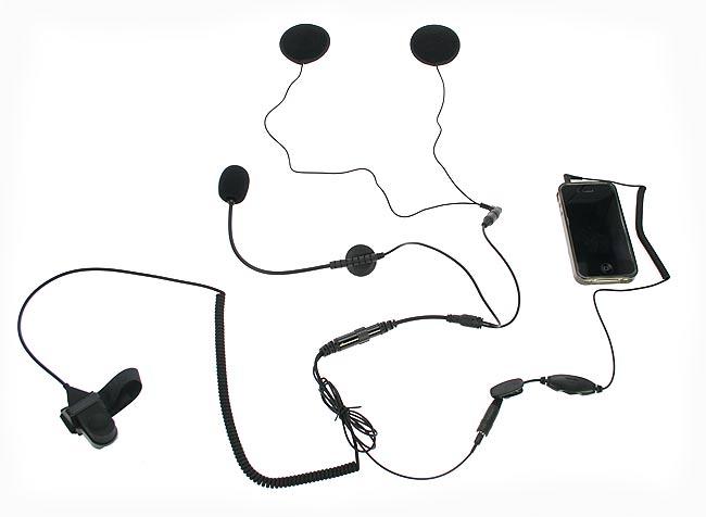 KIM66PHONE NAUZER  kit casco abierto para telefono móvil IPHONE, BLACBERRY, ETC.