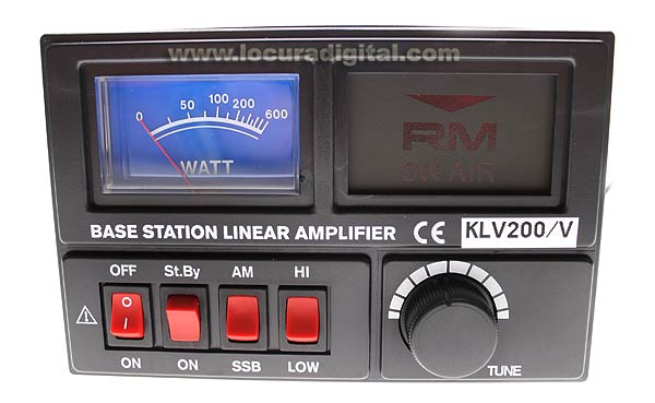 KLV200V RM Amplifier HF a valve 100 watts 26 to 30 Mhz