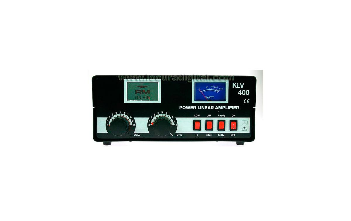 RM KLV 400  AMPLIFICADOR LINIAL HF  26-30 Mhz RED 200W VALVULAS PL519 x 2