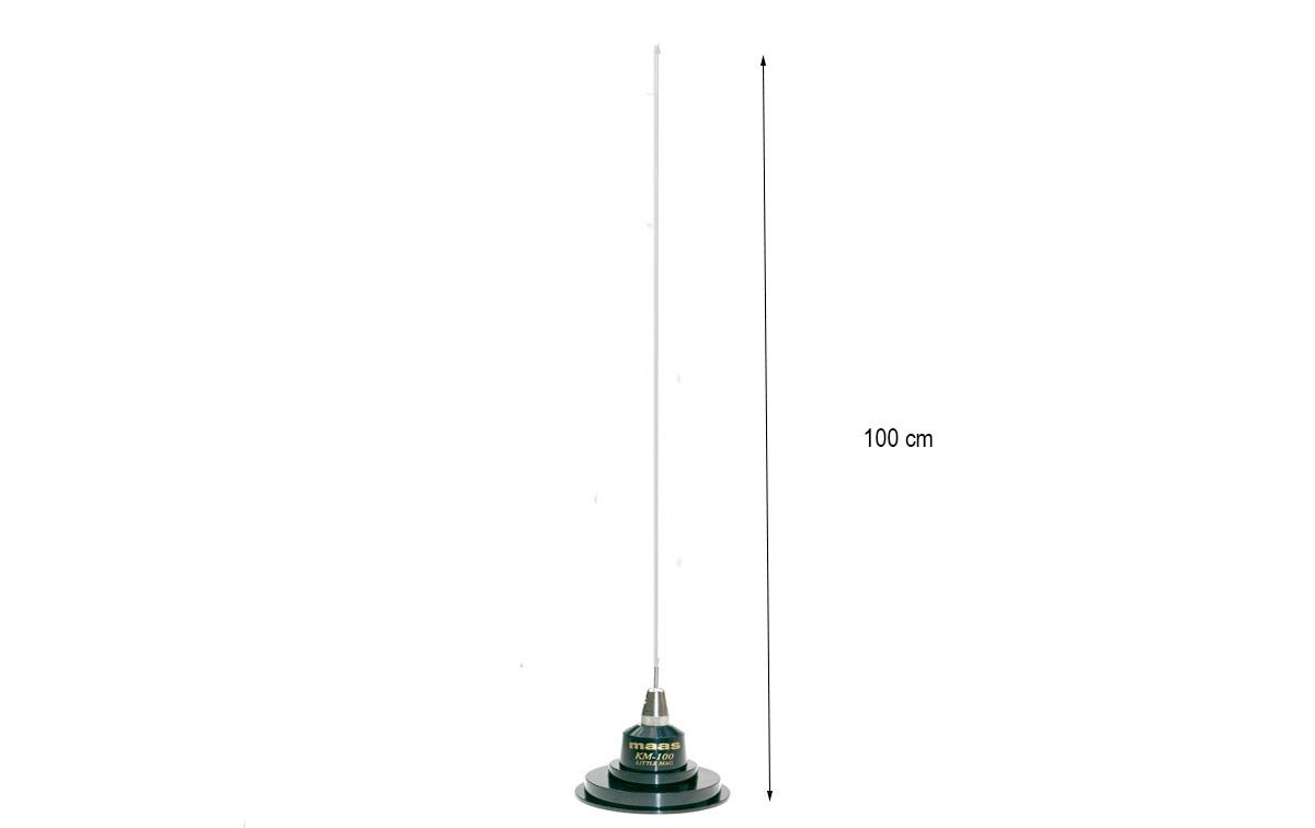 MAAS KM-100 Antena CB-27Mhz longitud 100 cm. con base iman 9 cm cable longitud 4,5 mts