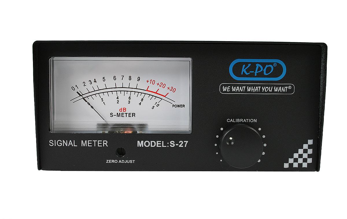 k-po s-27 medidor de señal s-meter analogico para cb 27 mhz