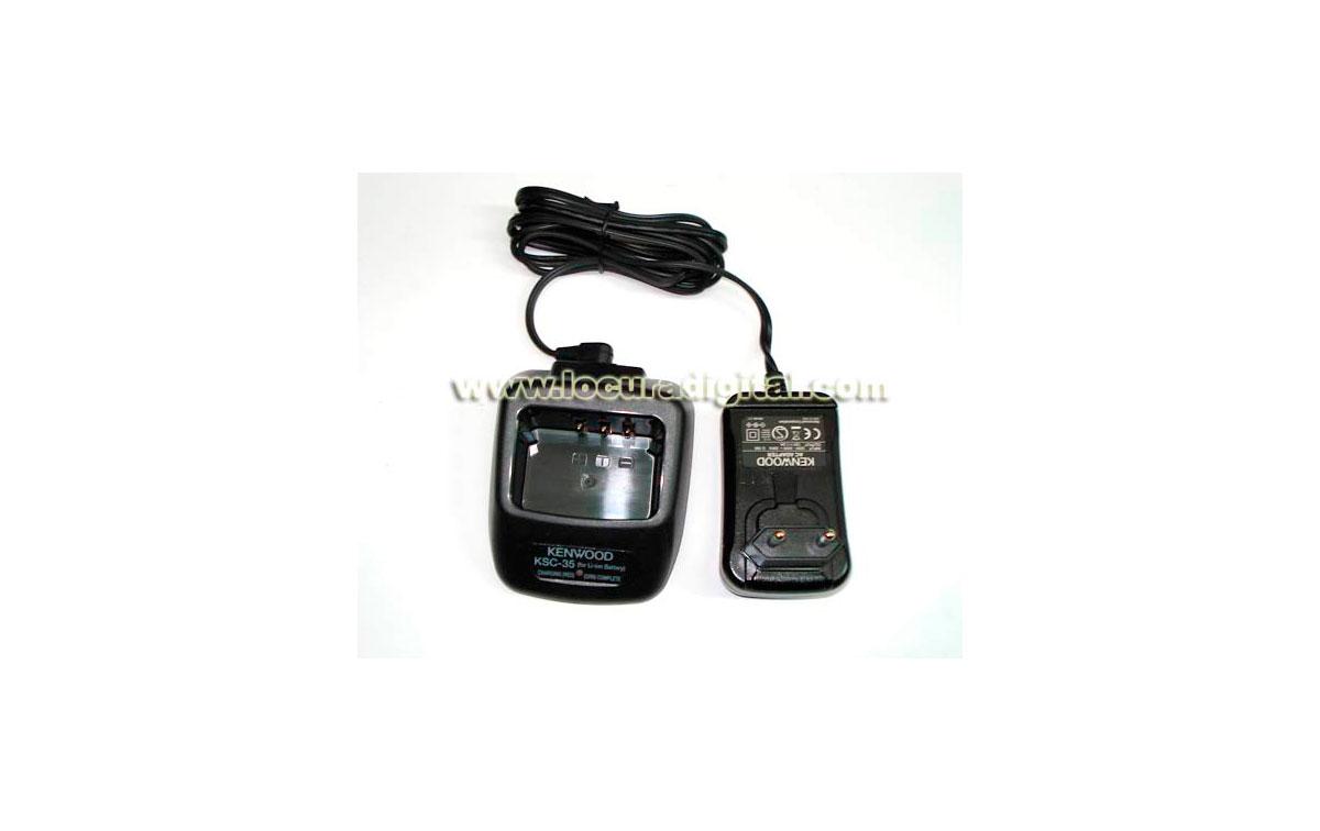 KSC-35. Cargador rapido  de sobremesa para walkie TK 3201,  baterias  KNB45L
