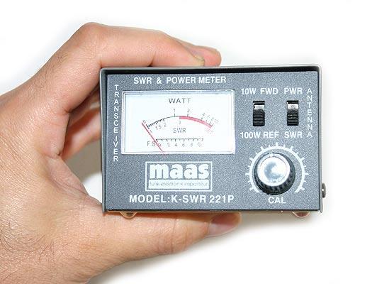 maas medidor r.o.e. / watimetro 100 w. 26-30 mhz.