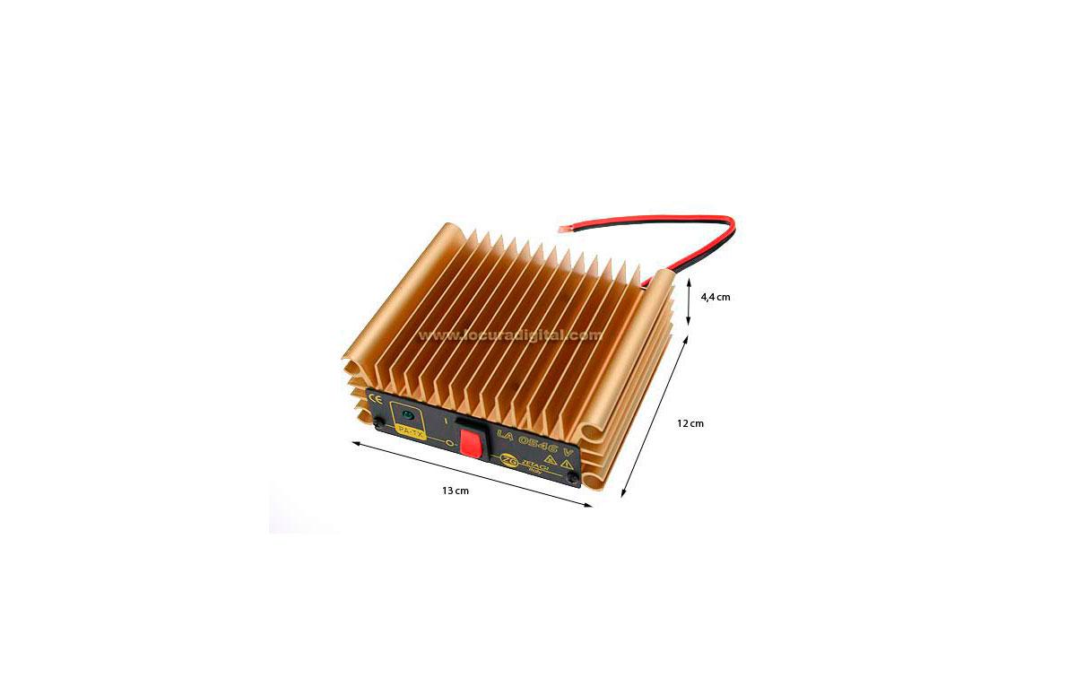 LA0545V ZETAGI amplificador lineal de VHF 140 a 160 Mhz. de 0,5 a 45 wats. 12 v