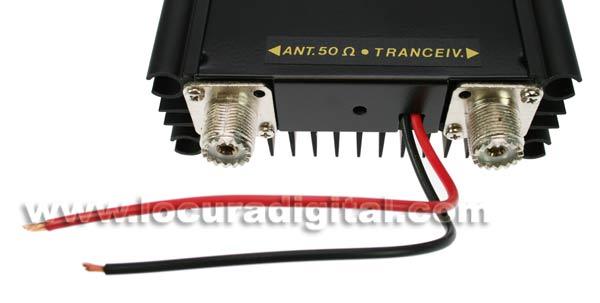 ZETAGI amplificador LA1080V VHF 140-170 Mhz. 10-100 watts, 12 volts